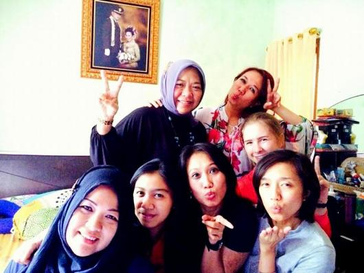 With the girls of my extended host family on Eid-ul-Adha (Lebaran).