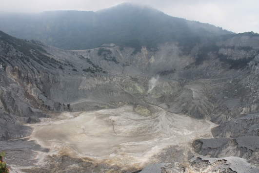 Domas Crater at Tangkuban Perahu.
