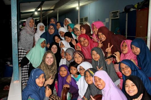 The girls at Al Falakiyah and I.