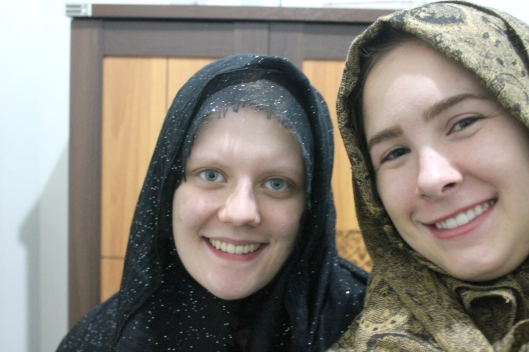 Ready to go to Al Falakiyah with Sabrina. (Eid-ul-Adha eve)