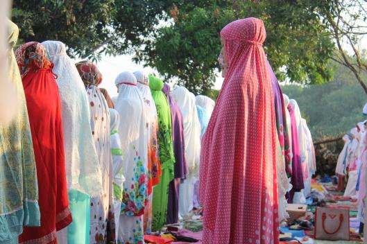 Praying at the mosque. (Eid-ul-Adha)