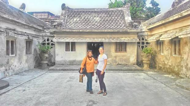 With Taman Sari. (Yogya)