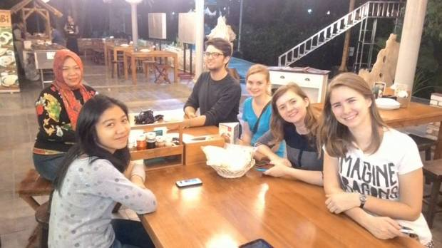 Eating dinner. (Thanksgiving in Bogor)