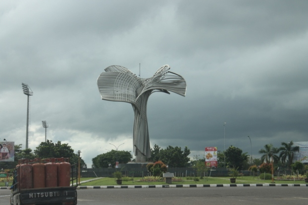 Sculpture in Palembang.