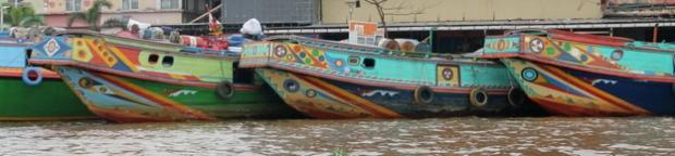 Boats. (Musi River)