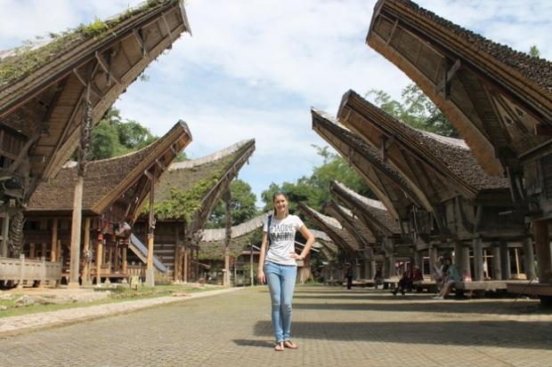 In a Torajan village.