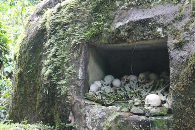An open grave.