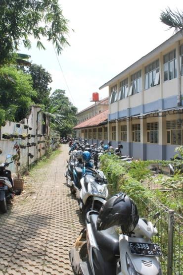 Side of the school.