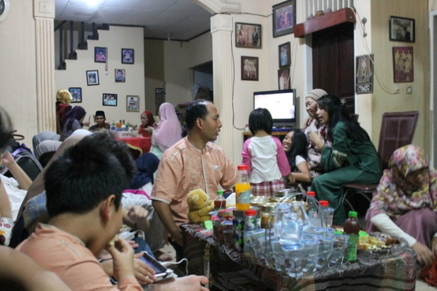 Gathering at Nenek's house.